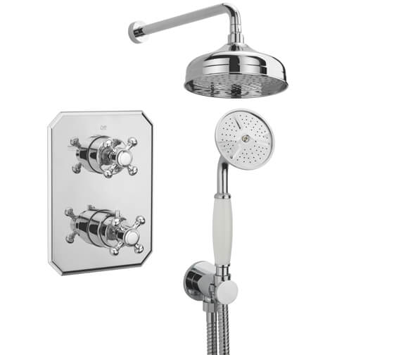 Tre Mercati Allora 2 Way Thermostatic Concealed Shower Valve With Complete Shower Kit
