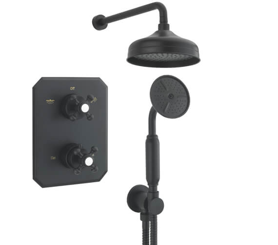 Additional image of Tre Mercati Allora 2 Way Thermostatic Concealed Shower Valve With Complete Shower Kit