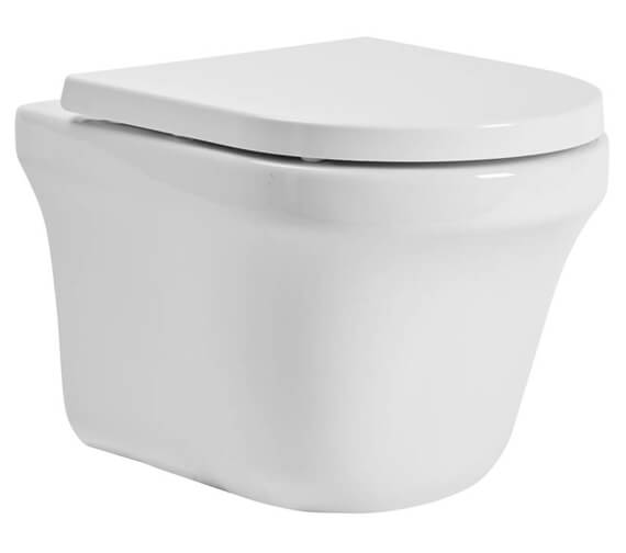 Tavistock Aerial Comfort Height Wall Hung Toilet With Soft Close Seat