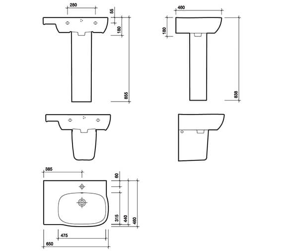 Technical drawing QS-V49260 / MD4041WH