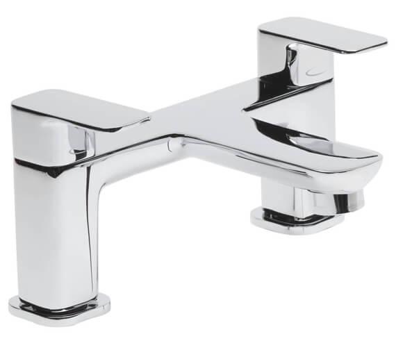 Tavistock Haze Modern Bath Filler Tap Chrome Finish - Deck Mounted