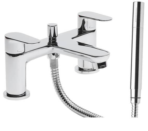 Tavistock Zero Deck Mounted Bath Shower Mixer Tap With Handset