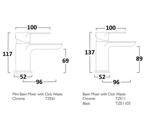 Technical drawing QS-V99361 / TZE61