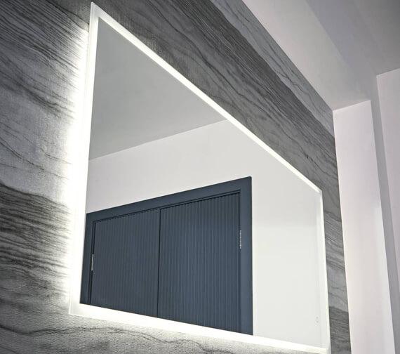 Additional image of Tavistock Beta Minimalist LED Illuminated Bathroom Mirror