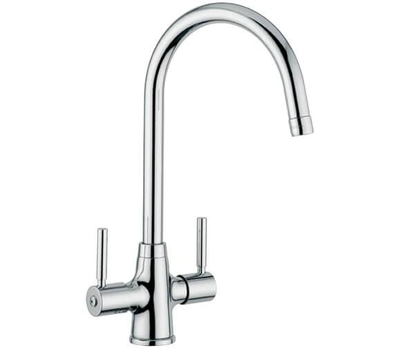 Clearwater Davenport C Twin Lever Monobloc Kitchen Sink Mixer Tap