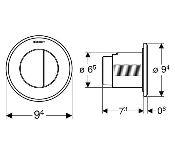 Technical drawing QS-V93574 / 116.041.11.1