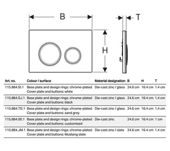 Technical drawing QS-V94560 / 115.884.00.1