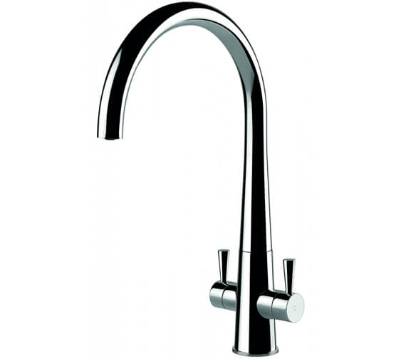 Clearwater Corona C Twin Lever Monobloc Kitchen Sink Mixer Tap