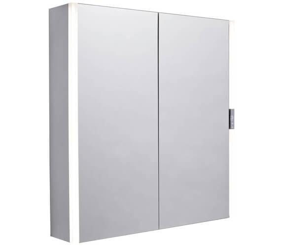 Tavistock Slide Double Door LED Illuminated 650 x 700mm Mirror Cabinet