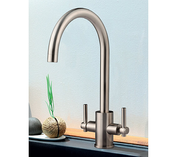 Clearwater Rococo C Twin Lever Monobloc Kitchen Sink Mixer Tap