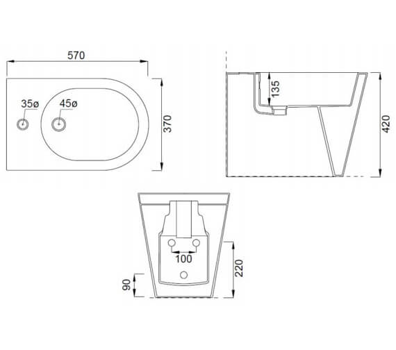 Technical drawing QS-V102469 / 83116