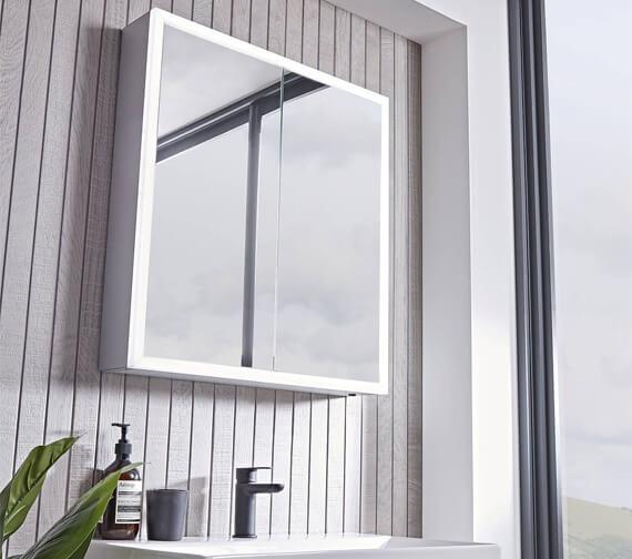 Tavistock Flex Double Door LED Illuminated Mirror Cabinet