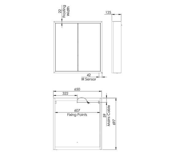 Technical drawing QS-V99371 / FXC065