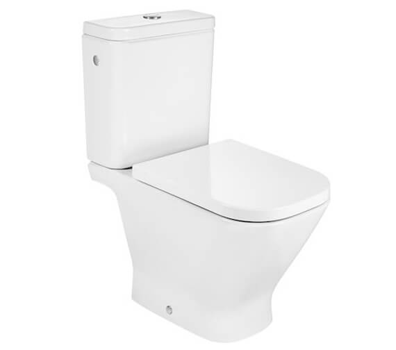 Roca The Gap Vitreous China Close-Coupled Rimless WC With Dual Outlet