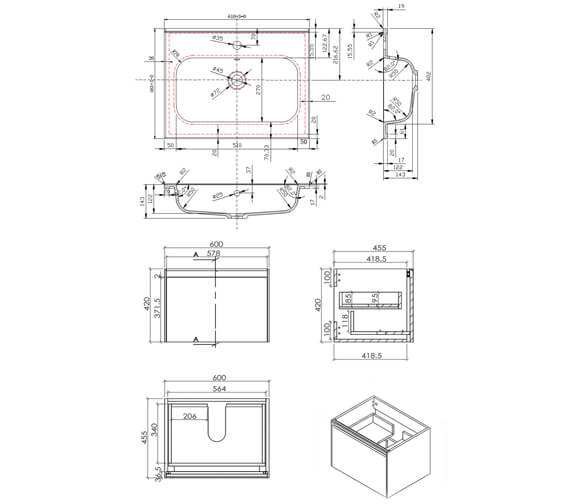 Technical drawing QS-V101271 / FU500