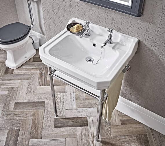 Tavistock Vitoria Chrome Traditional Washstand 544 x 443mm