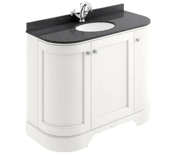 Bayswater 3 Door 1000mm Curved Basin Cabinet