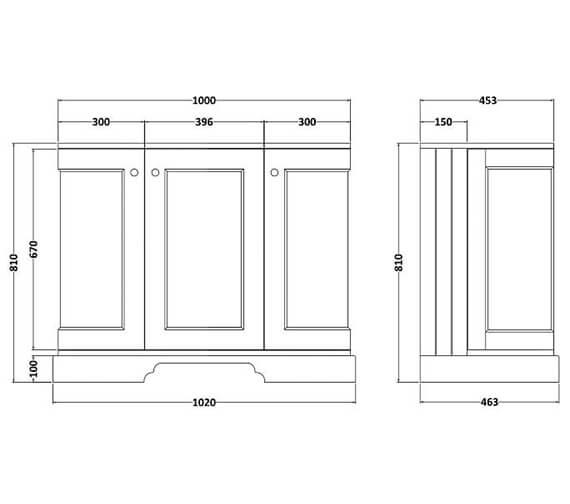 Technical drawing QS-V101022 / BAYF163