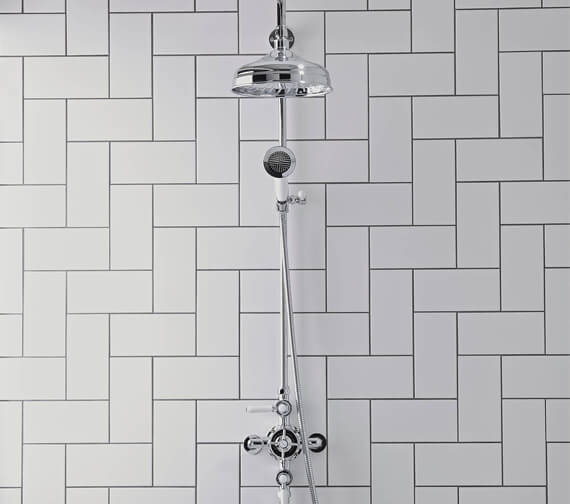 Tavistock Cheltenham Thermostatic Exposed Dual Function Shower System - Traditional Style