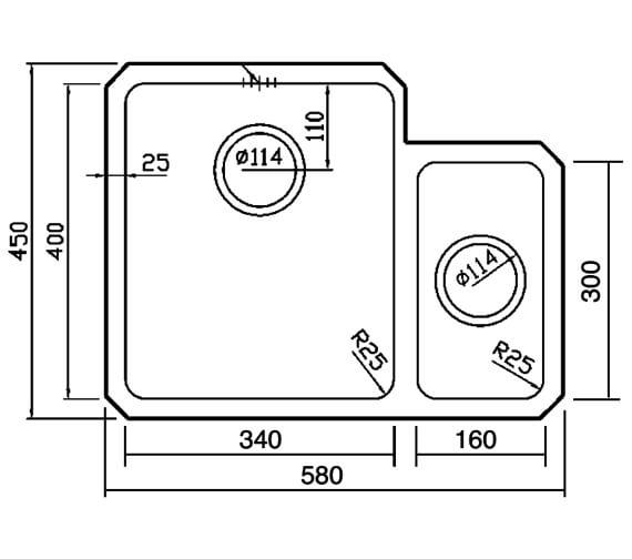 Technical drawing QS-V88873 / SA53L