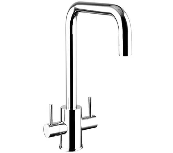 Clearwater Savita U Twin Lever Monobloc Kitchen Sink Mixer Tap