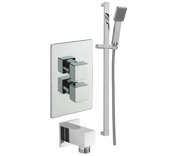 Tre Mercati Concealed Thermostatic Valve With Sliding Rail Kit And Wall Outlet