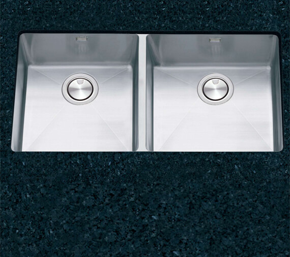 Clearwater Stereo 800 x 430mm Double Bowl Kitchen Sink
