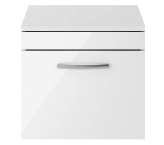 Nuie Athena Single Drawer Wall Hung Cabinet With Worktop