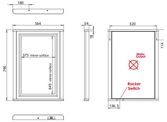 Technical drawing QS-V83926 / ILL5MIR