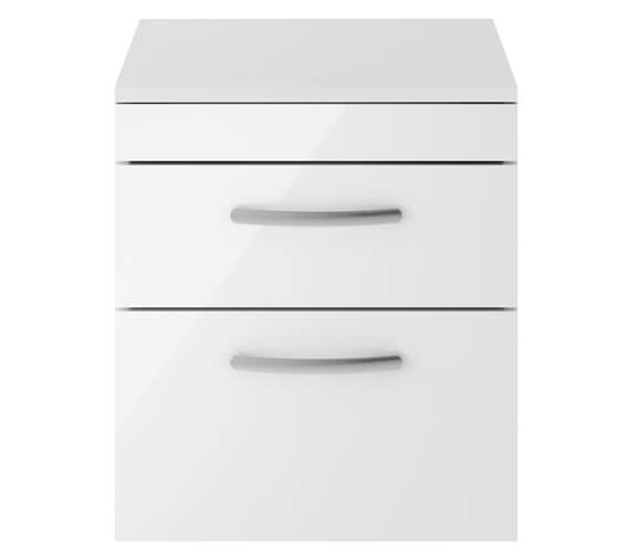 Nuie Premier Athena Double Drawer Wall Hung Cabinet With Worktop