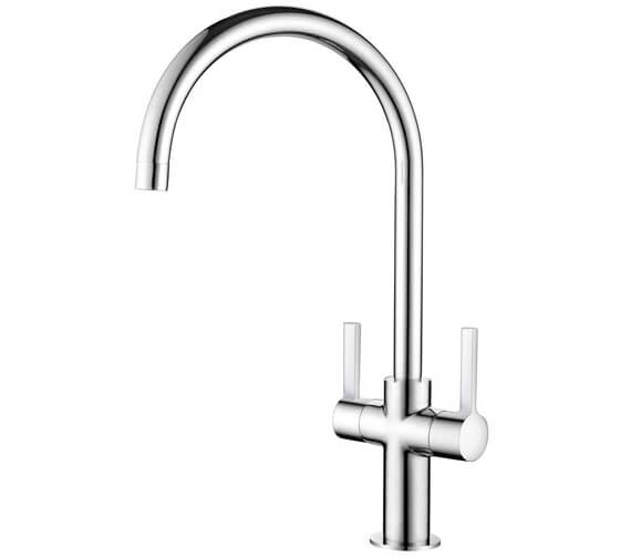 Clearwater Auva C Twin Lever Monobloc Kitchen Sink Mixer Tap