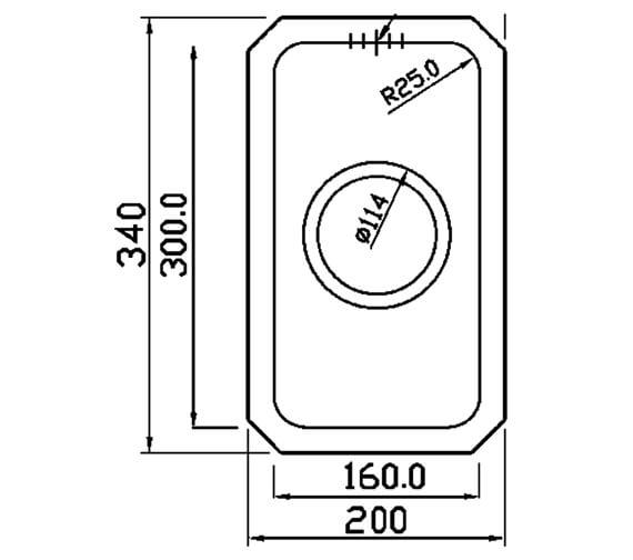Technical drawing QS-V88875 / SA16