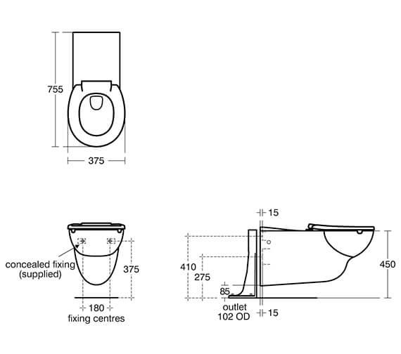 Technical drawing QS-V96339 / S0442HY