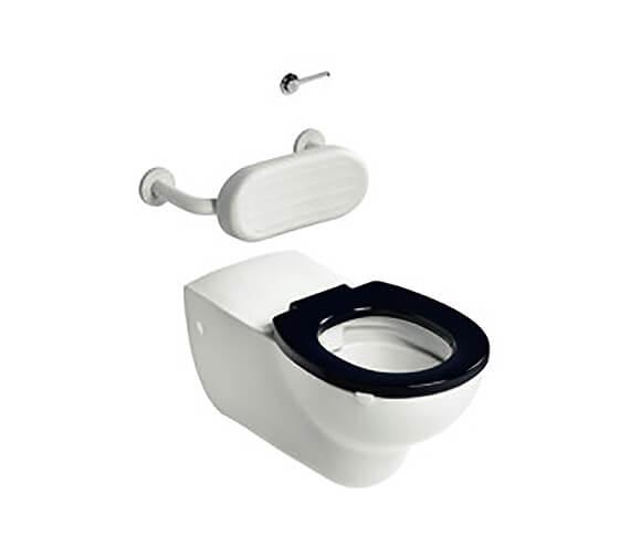 Additional image of Armitage Shanks Contour 21 Plus Wall-Mounted Gloss White Rimless Toilet Pan