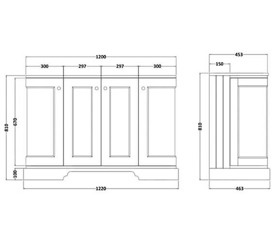 Technical drawing QS-V101023 / BAYF166