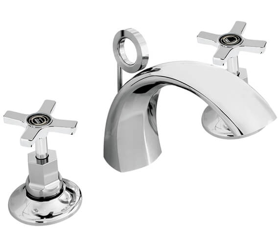 Bristan Art Deco 3 Hole Basin Mixer Tap With Pop Up Waste