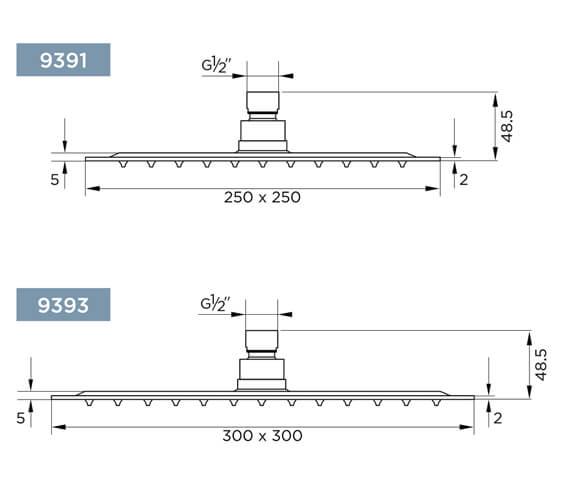 Technical drawing QS-V98102 / 9391