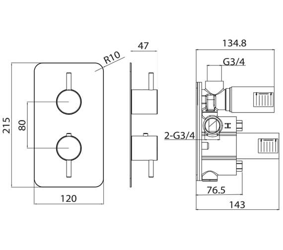 Technical drawing QS-V82609 / CO219