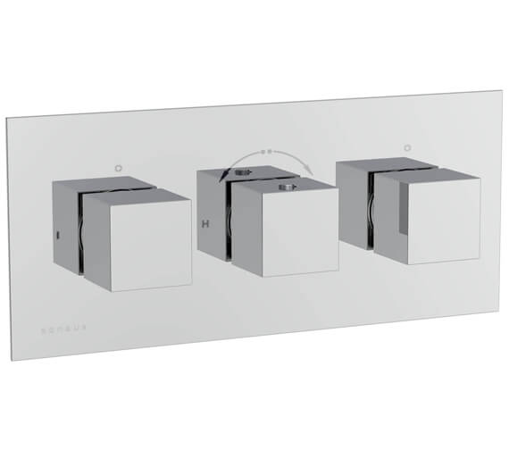 Additional image of Saneux Tooga Three Way Thermostatic Shower Valve