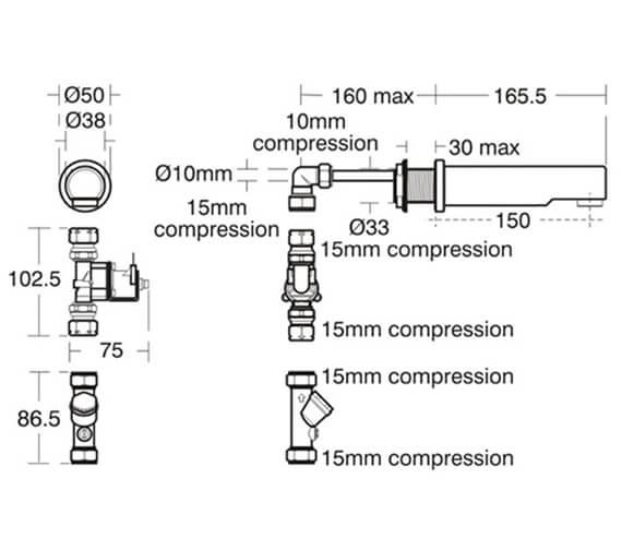 Technical drawing QS-V96343 / A4847AA
