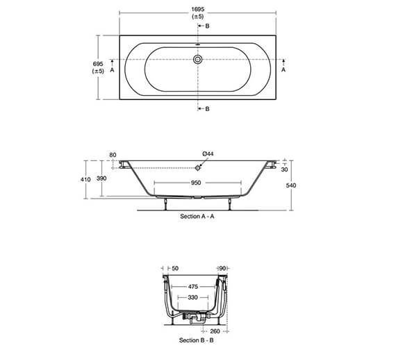 Technical drawing QS-V89531 / T360501