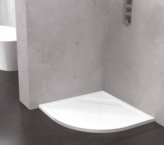 Kudos Connect2 900mm Quadrant Acrylic Shower Tray