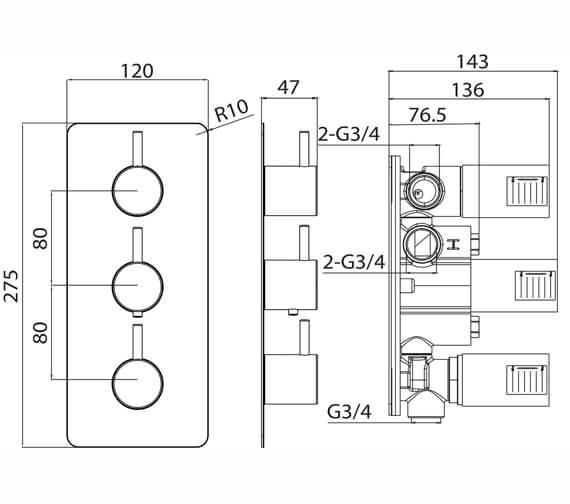 Technical drawing QS-V82613 / CO221