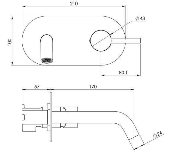 Technical drawing QS-V29081 / CO205
