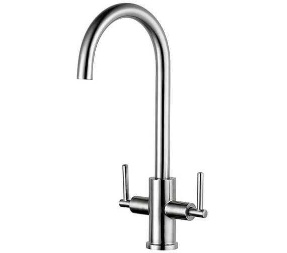 Clearwater Calypso C Twin Lever Monobloc Kitchen Sink Mixer Tap
