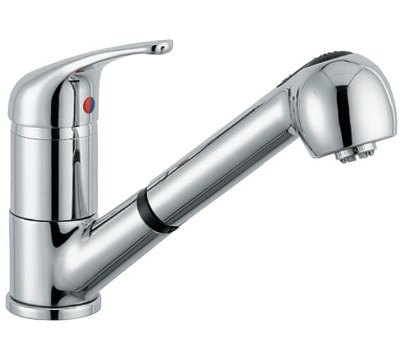 Clearwater Creta Monobloc Kitchen Sink Mixer Tap With Pull-Out Spray