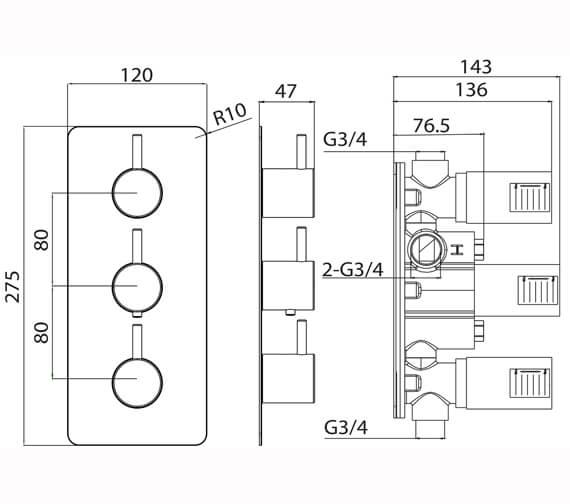 Technical drawing QS-V82611 / CO222