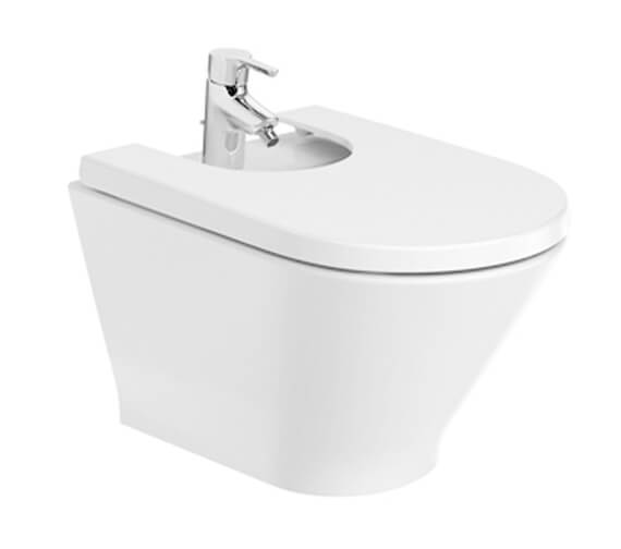 Roca The Gap Round Wall Hung Bidet With 1 Taphole