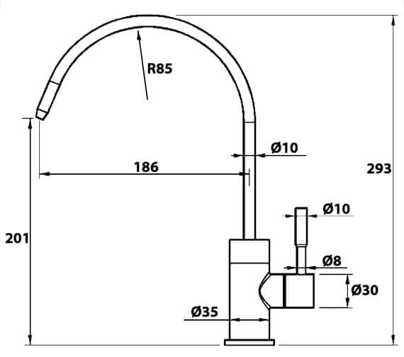 Technical drawing QS-V102414 / MI2SSC