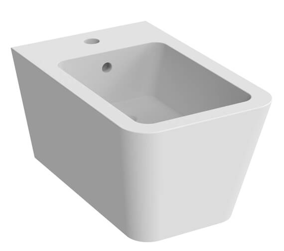 Additional image of Saneux Icon Square 1 Tap Hole Wall Hung Bidet